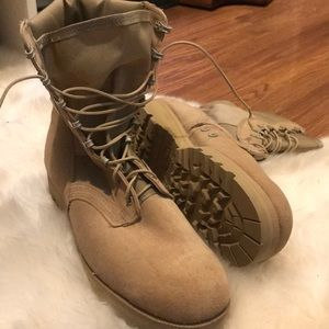 Brand-new military style boots- men's size 12
